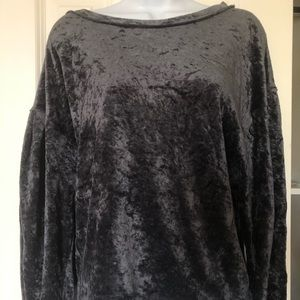 Free people crushed velvet top